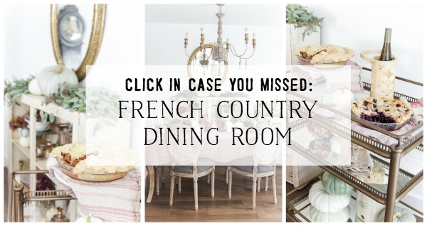 French Country Fall Dining Room poster.
