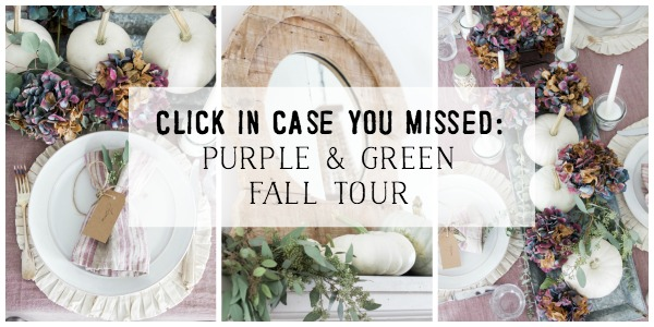 Click in case you missed: French fall tour with purple and green - So Much Better With Age