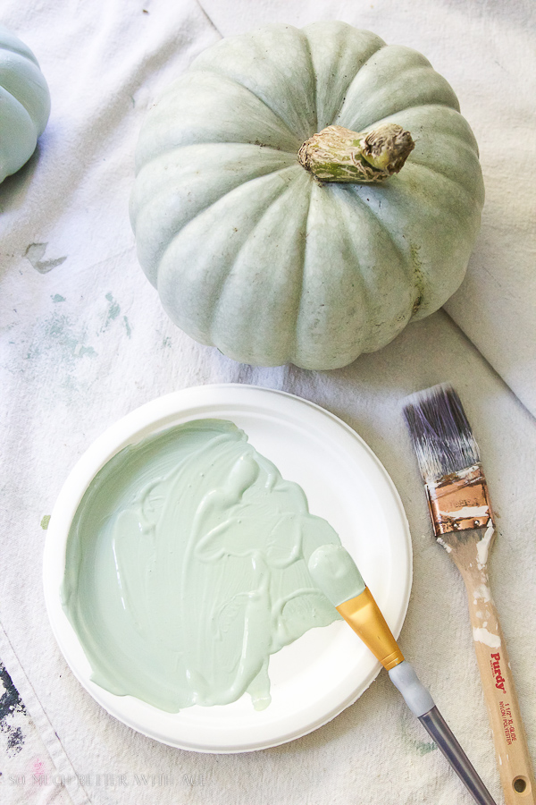 DIY heirloom pumpkin tutorial /painting pumpkins to look like heirloom pumpkins - So Much Better With Age