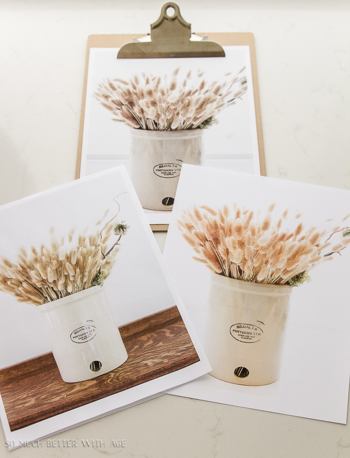 Crock and wheat fall printable / three display ideas - So Much Better With Age