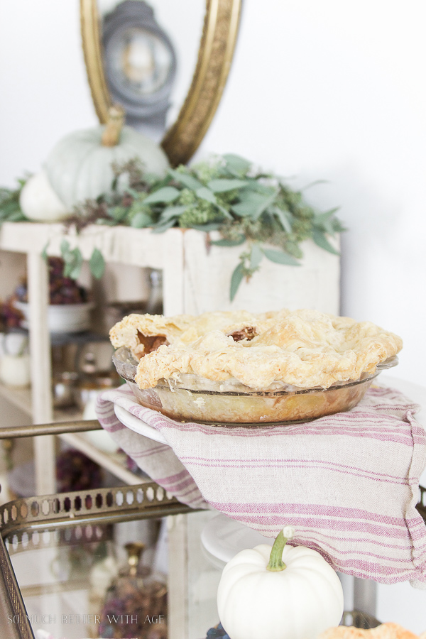 French country decorating with home baked pies