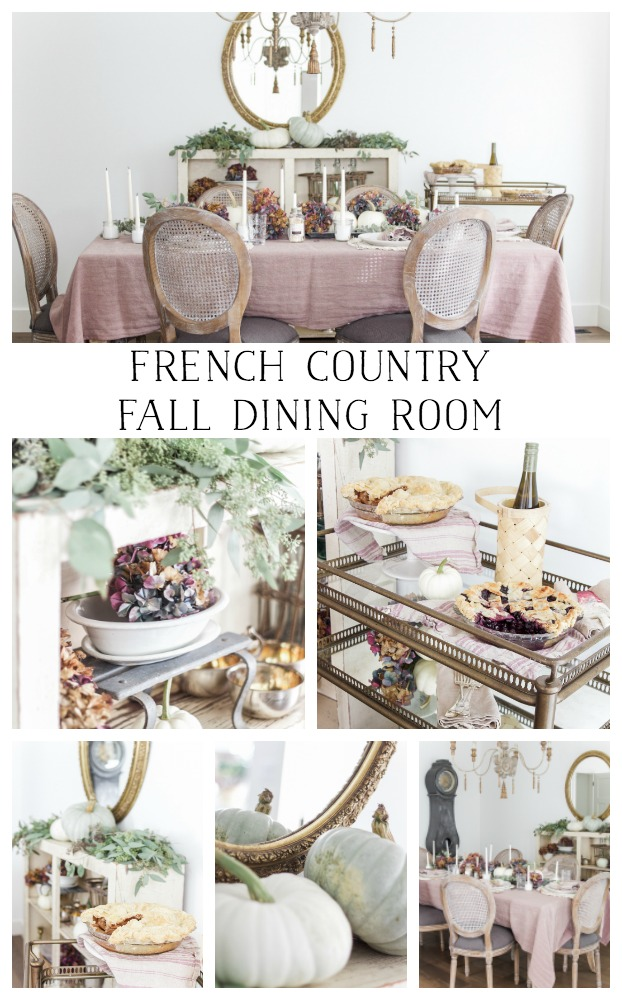 French country fall dining room - So Much Better With Age