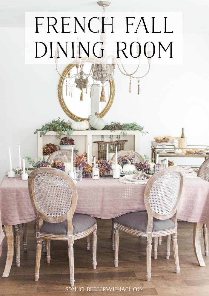 French Fall Dining Room.