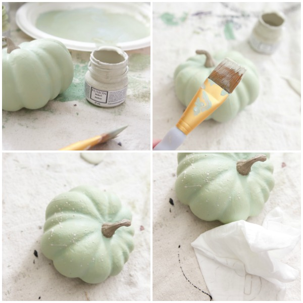 DIY heirloom pumpkin tutorial /splatter painted pumpkins - So Much Better With Age