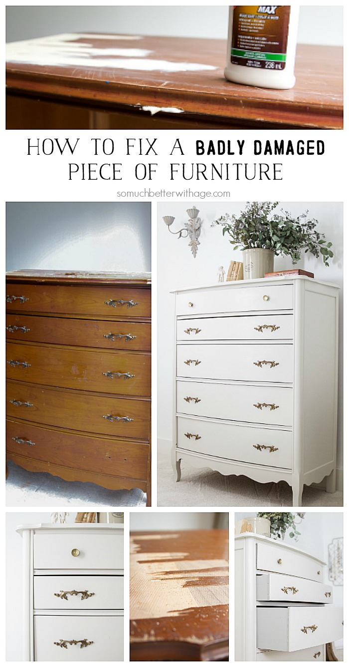 How to fix a badly damaged piece of furniture - So Much Better With Age