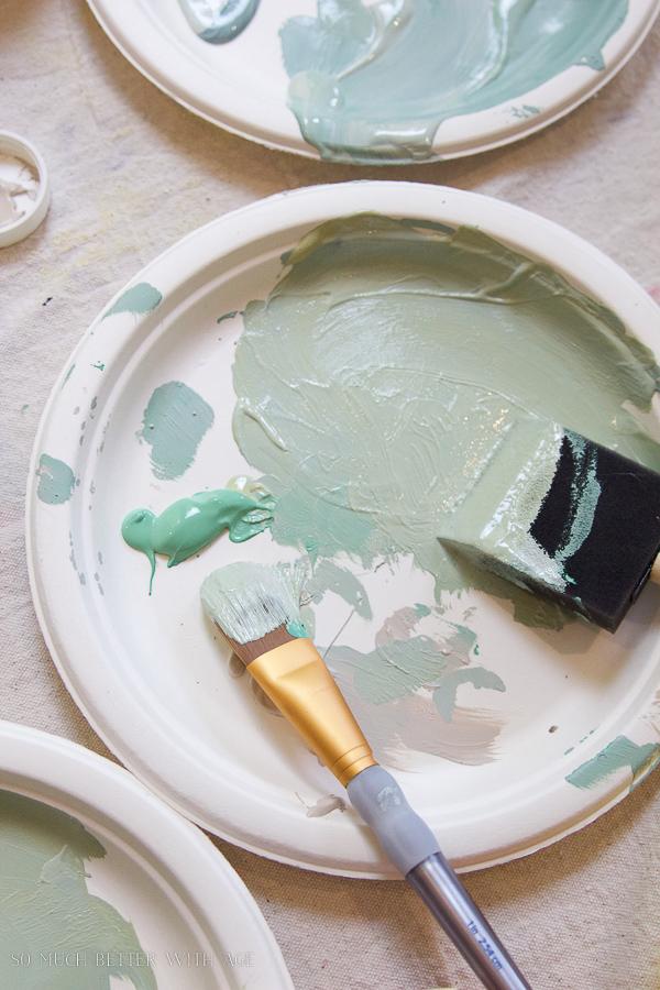 painting pumpkins sage green-DIY heirloom pumpkin tutorial