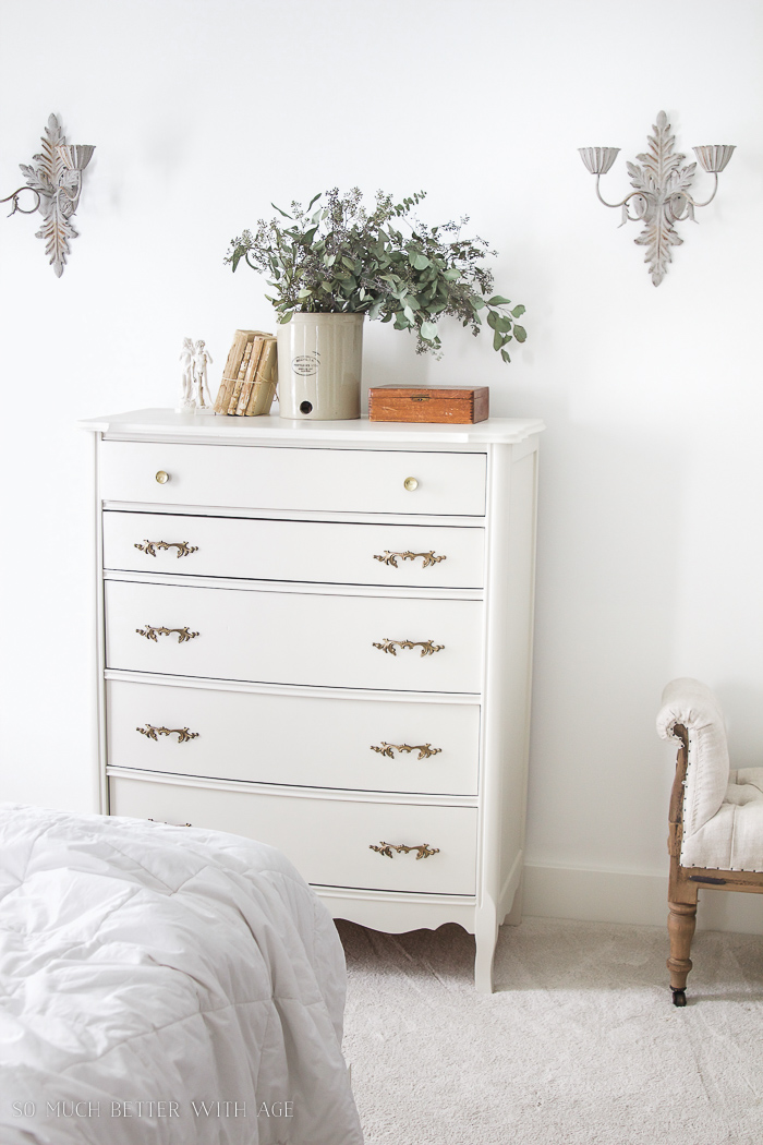 8 Steps on How to Finish Badly Damaged Furniture / vintage dresser with vintage hardware - So Much Better With Age