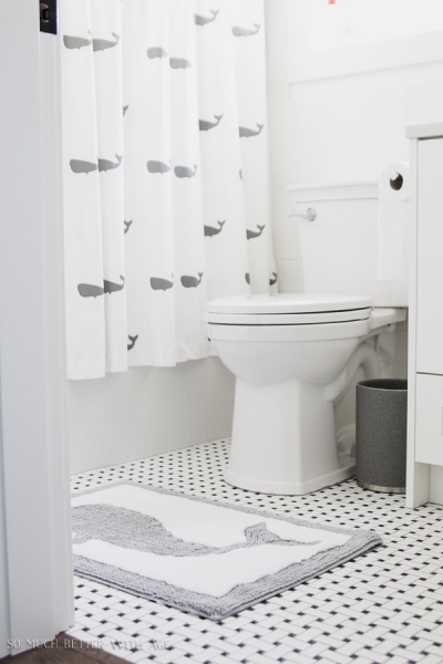 Simple, Clean and White Kids' Bathroom Reveal