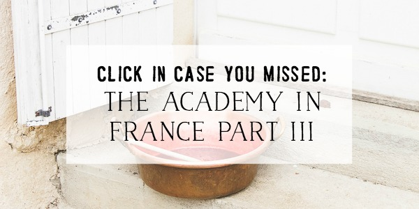 Heather Bullard's The Academy in France Part III - So Much Better With Age
