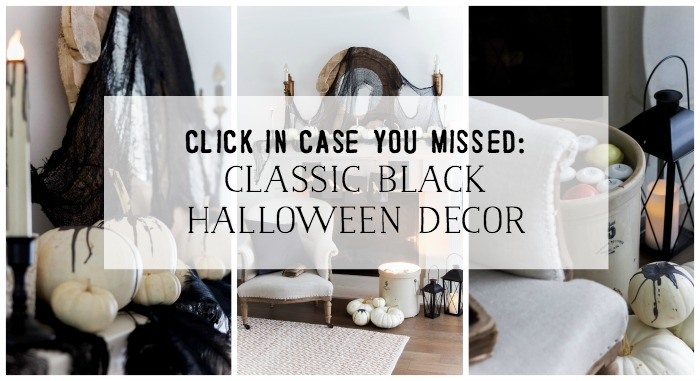 Classic Black Halloween Mantel Decor - So Much Better With Age