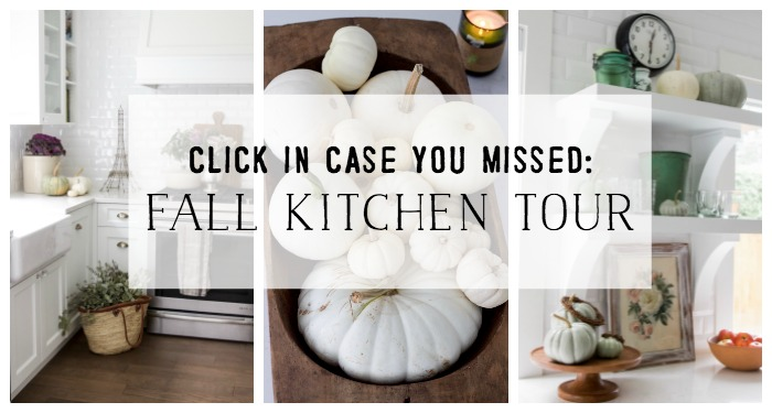 Fall Kitchen Tour poster.