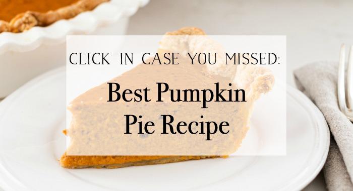 Best Pumpkin Pie Recipe poster.