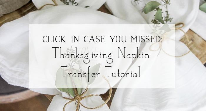 Thanksgiving Napkin Transfer Tutorial