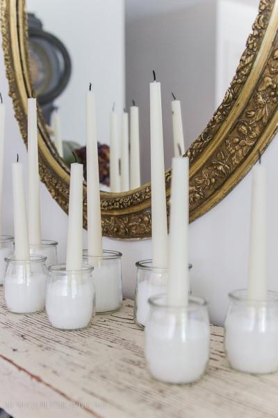 French Yogurt Jar Candles