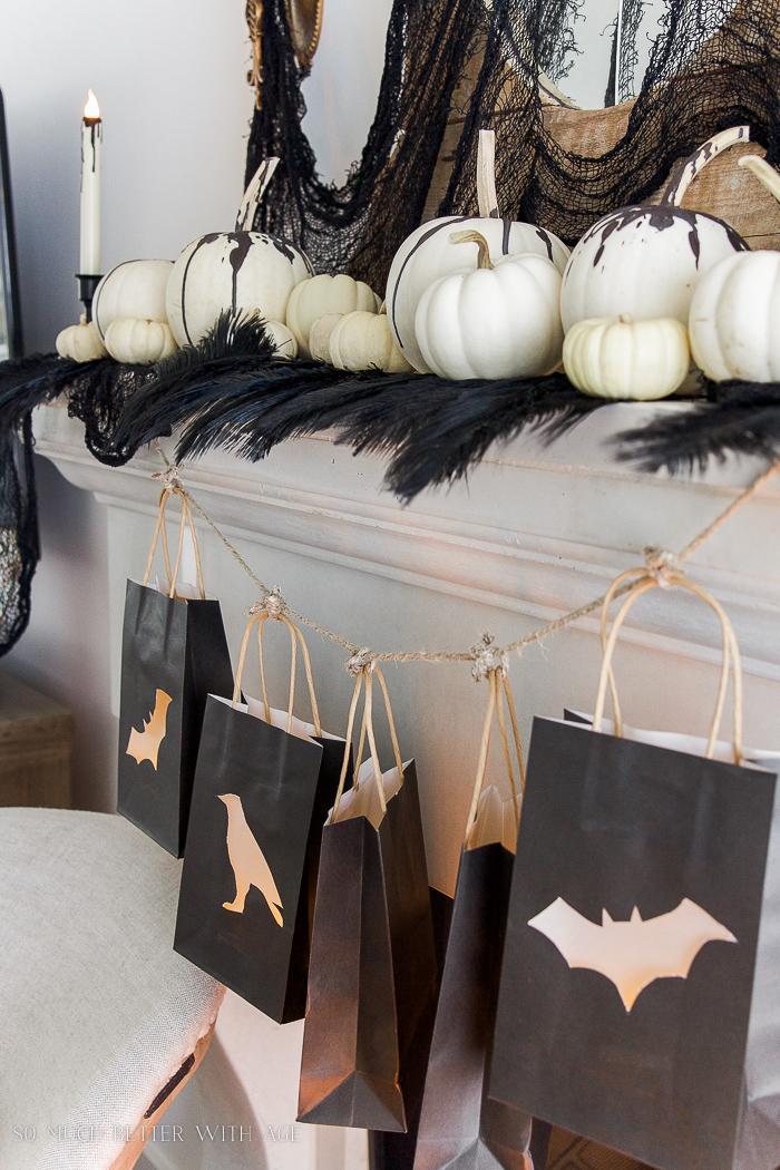 Halloween lantern bags with vellum- Halloween Lantern Garland