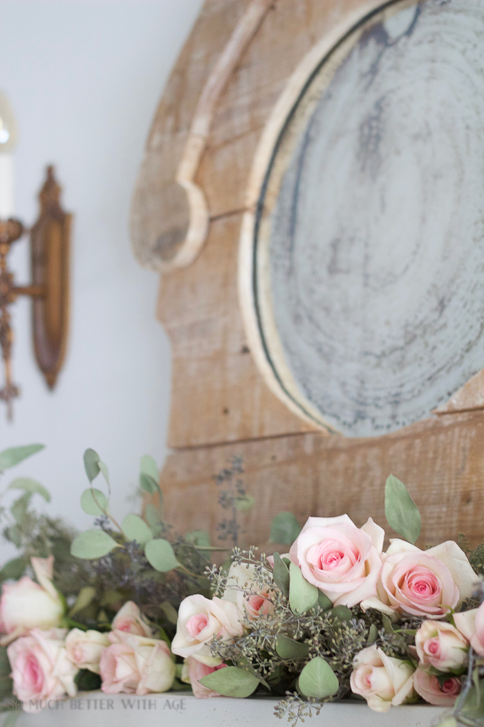 Antiquing a Mirror/rustic mirror and roses - So Much Better With Age