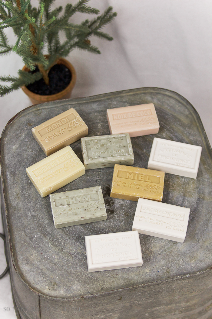 French bars of soap- Christmas pop up shop
