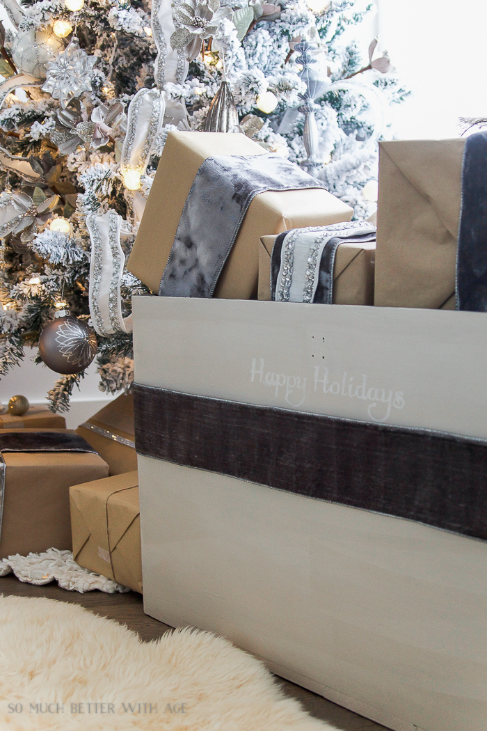 30+ Unique Christmas Decorating Ideas/painted trunk for Christmas - So Much Better With Age