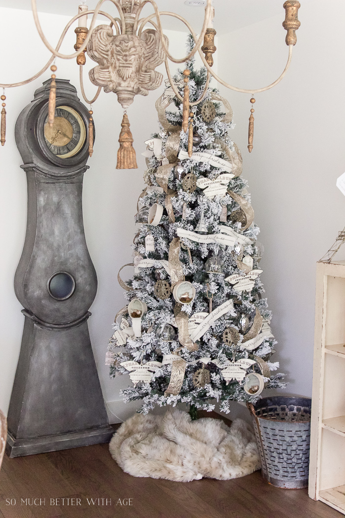 Two flocked Christmas trees, a review - So Much Better With Age