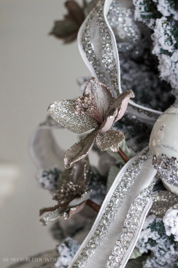Picks and ornaments from Balsam Hill - Glittered and jewelled Christmas tree