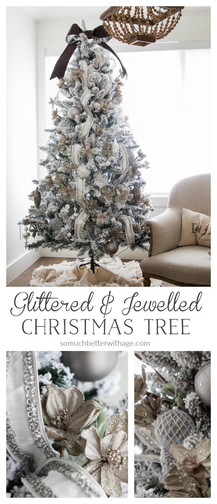 - Glittered and jewelled Christmas tree - So Much Better With Age