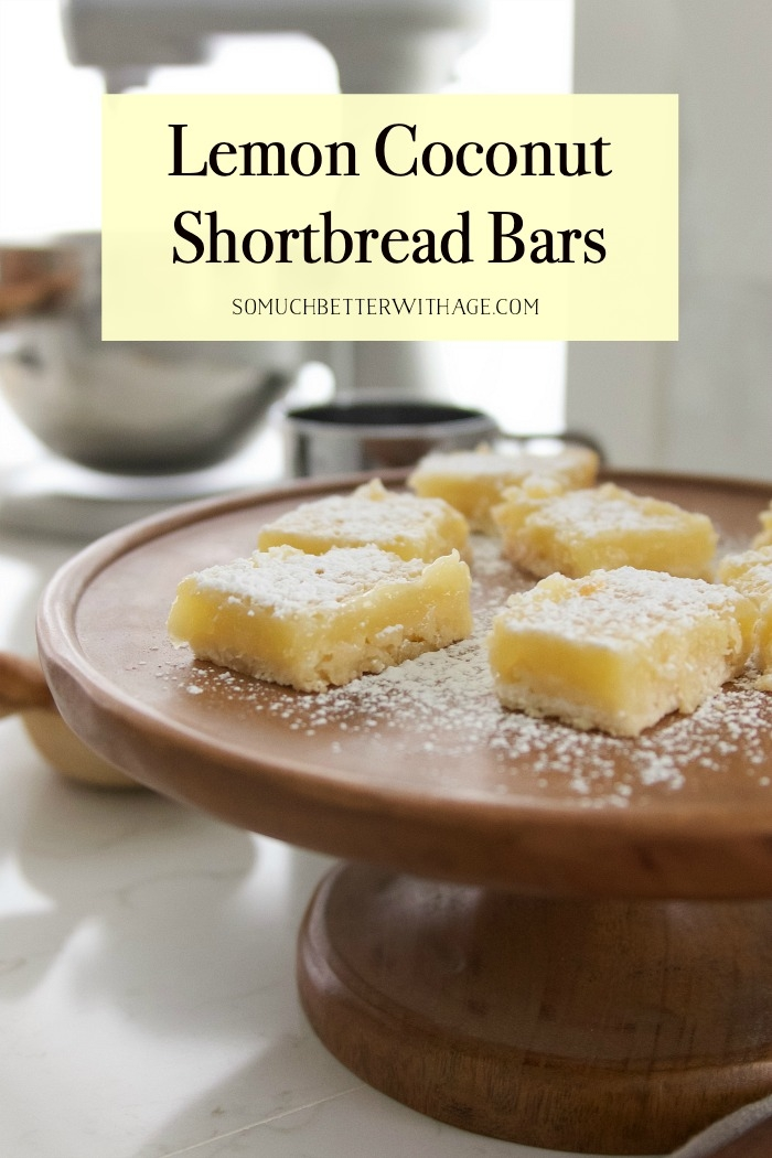 Lemon Coconut Shortbread Bars graphic.