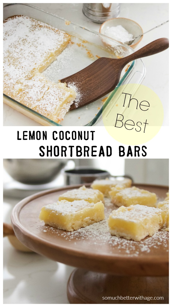 Lemon Coconut Shortbread Bars - So Much Better With Age