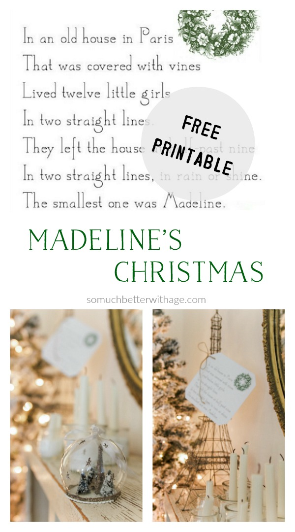 Free printable - Madeline's Christmas - So Much Better With Age
