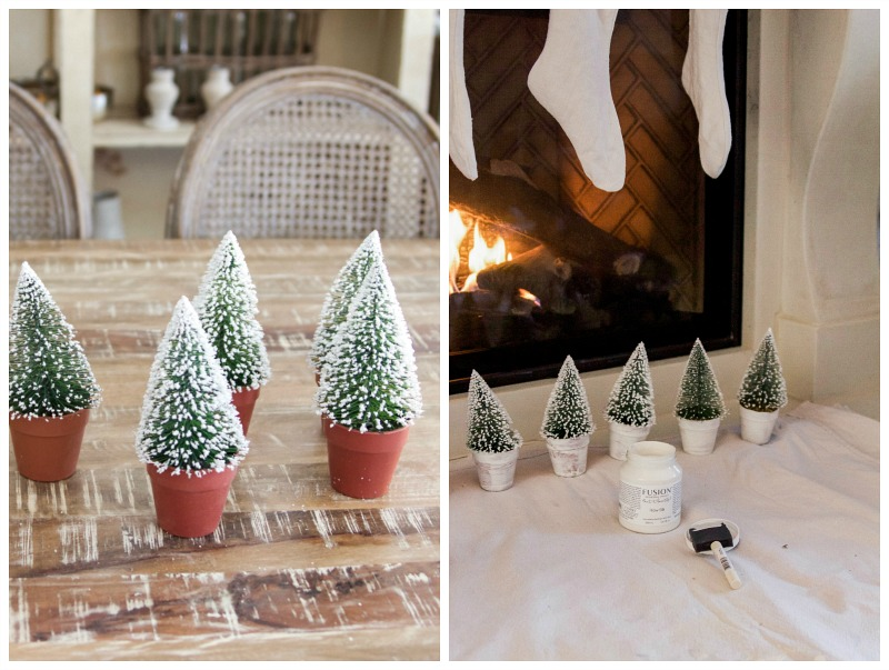 Christmas Tour 2016 - Dining Room and DIY Snowy Centrepiece / little Christmas trees - So Much Better With Age