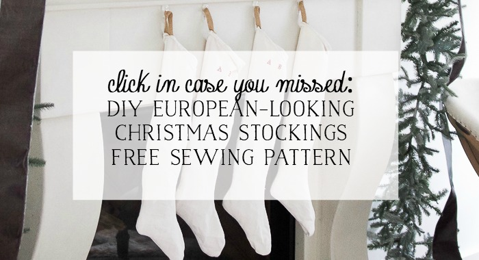 DIY European-looking Christmas stockings sewing pattern