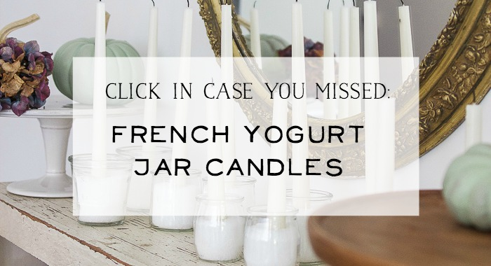 French Yogurt Jar Candles