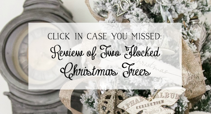 Review of Two Flocked Christmas Trees