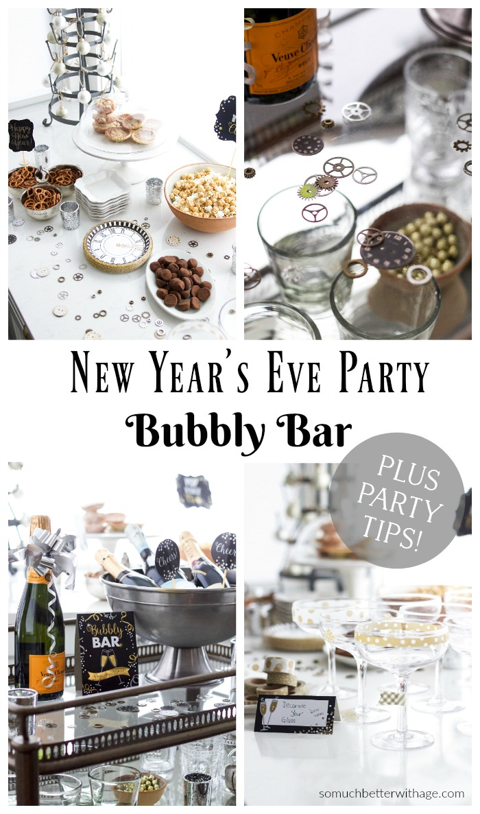 New Year's Eve Party Bubbly Bar - So Much Better With Age