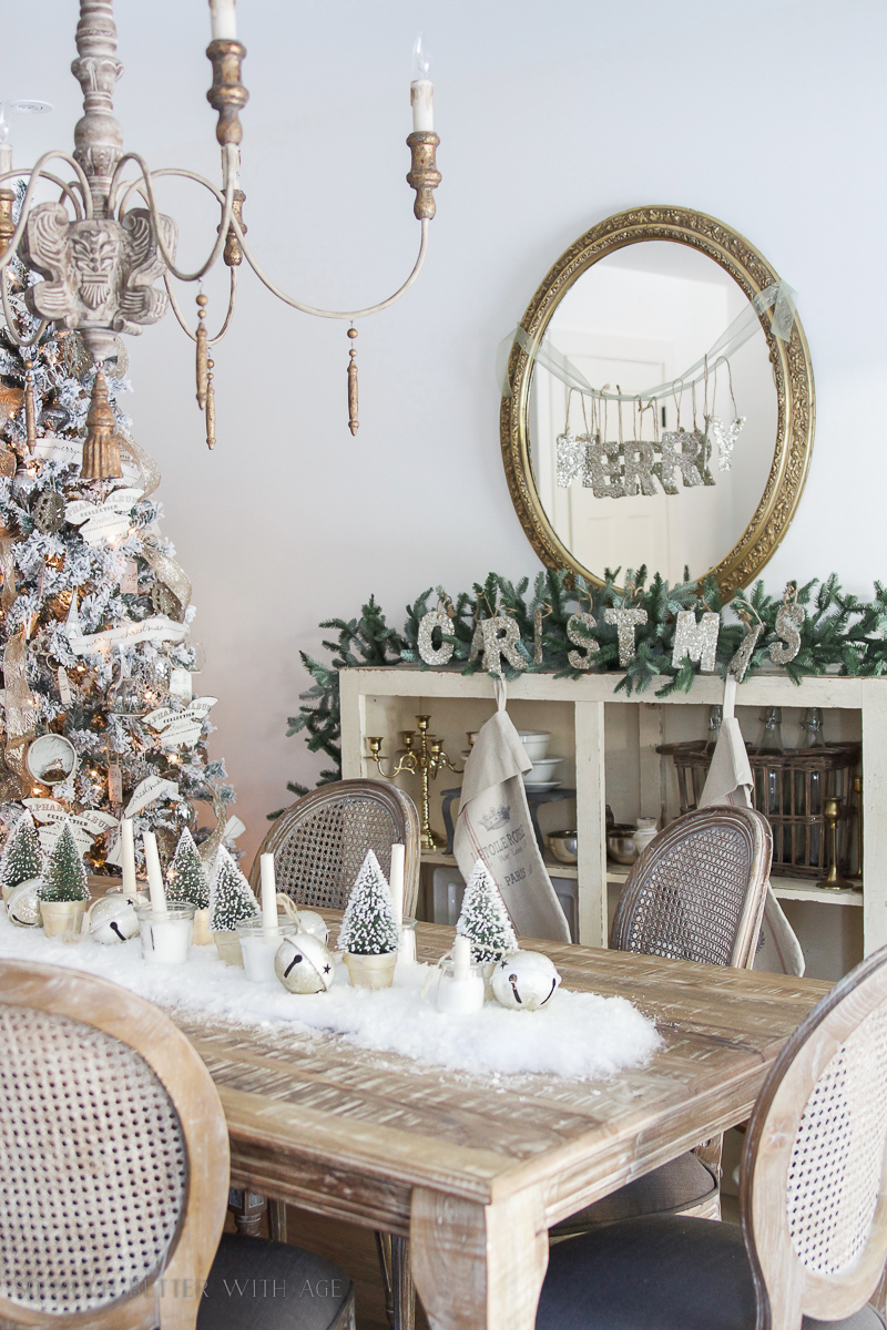 Christmas Posts 2016 / Christmas Dining Room & Snowy Centrepiece - So Much Better With Age