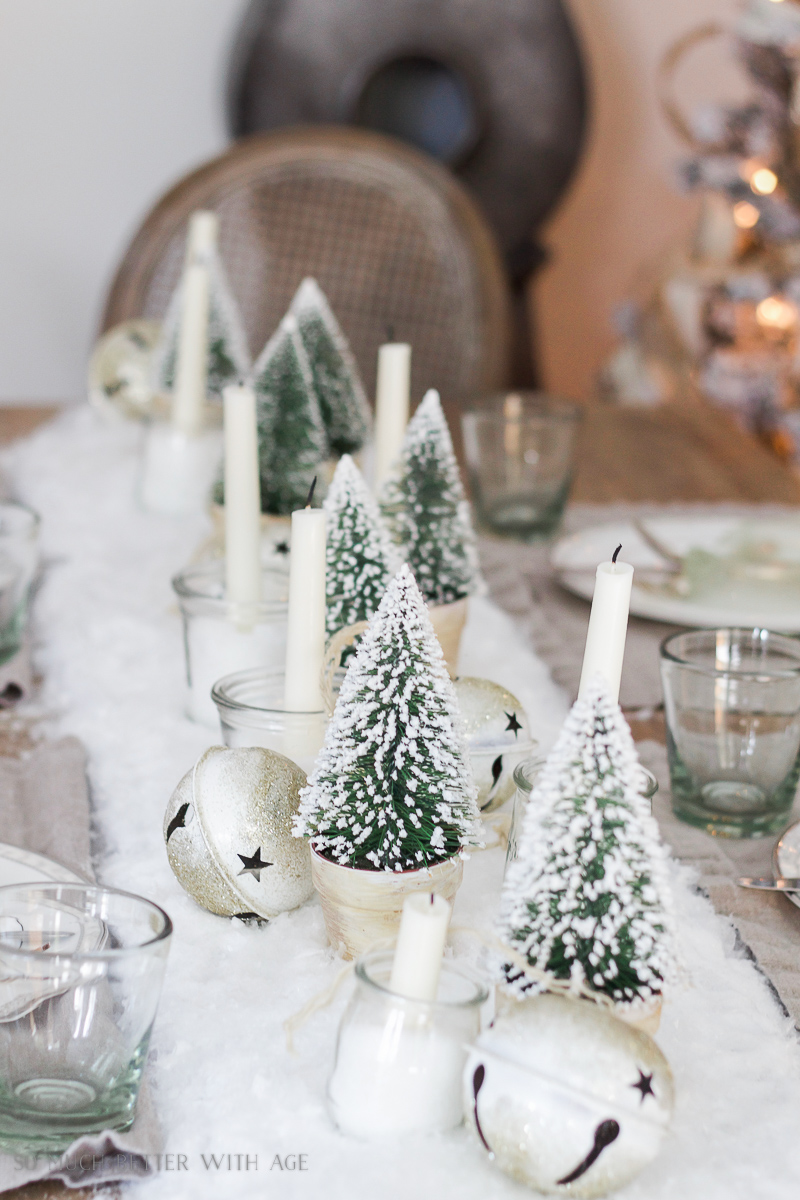 30+ Unique Christmas Decorating Ideas/snowy centrepiece - So Much Better With Age