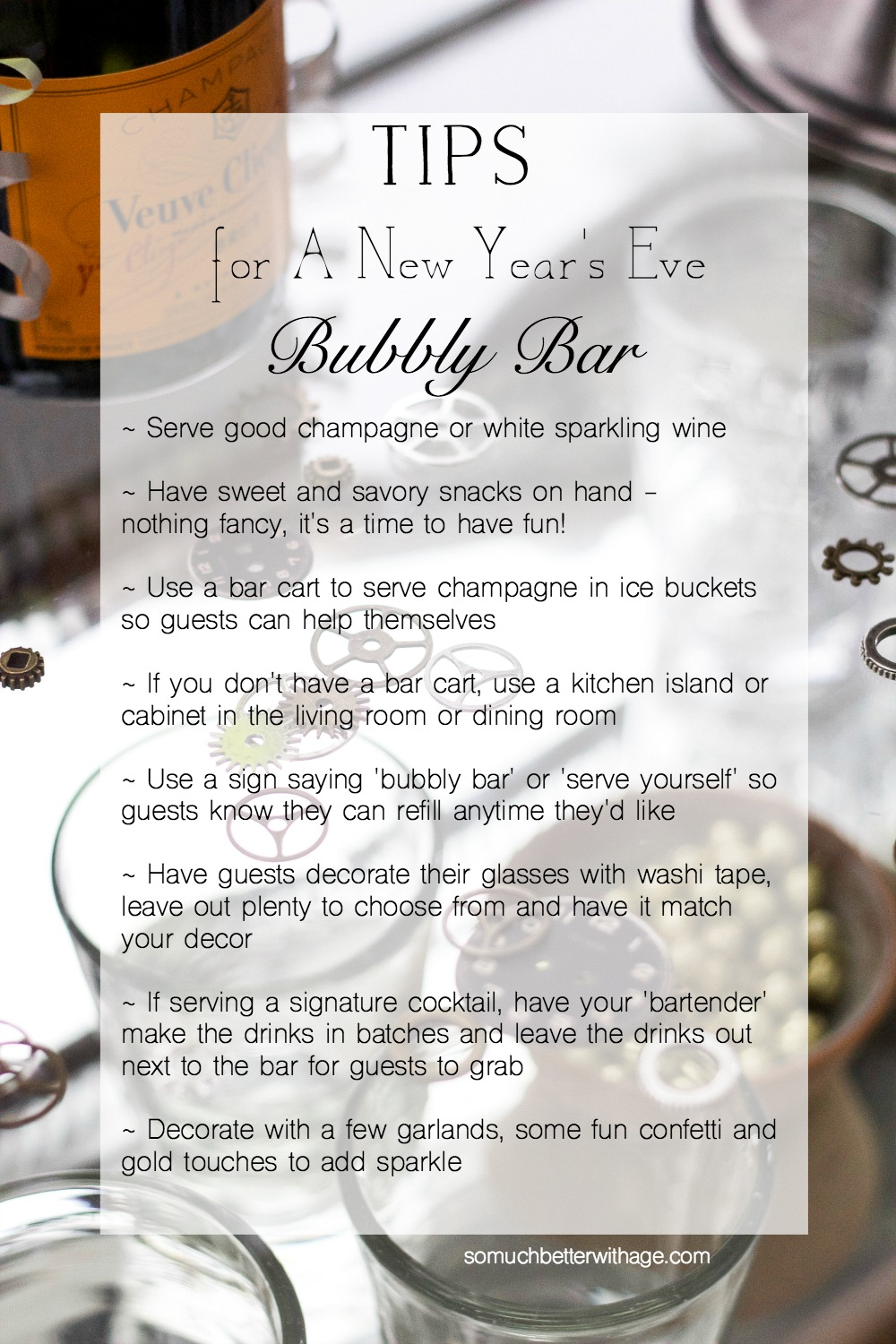 Tips for a New Year's Eve Bubbly Bar / So Much Better With Age