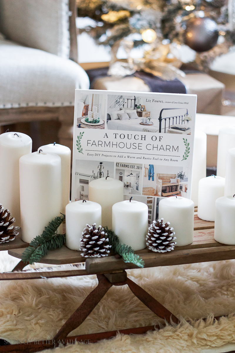 A Touch of Farmhouse Charm , The Perfect Christmas Gift / book on table - So Much Better With Age
