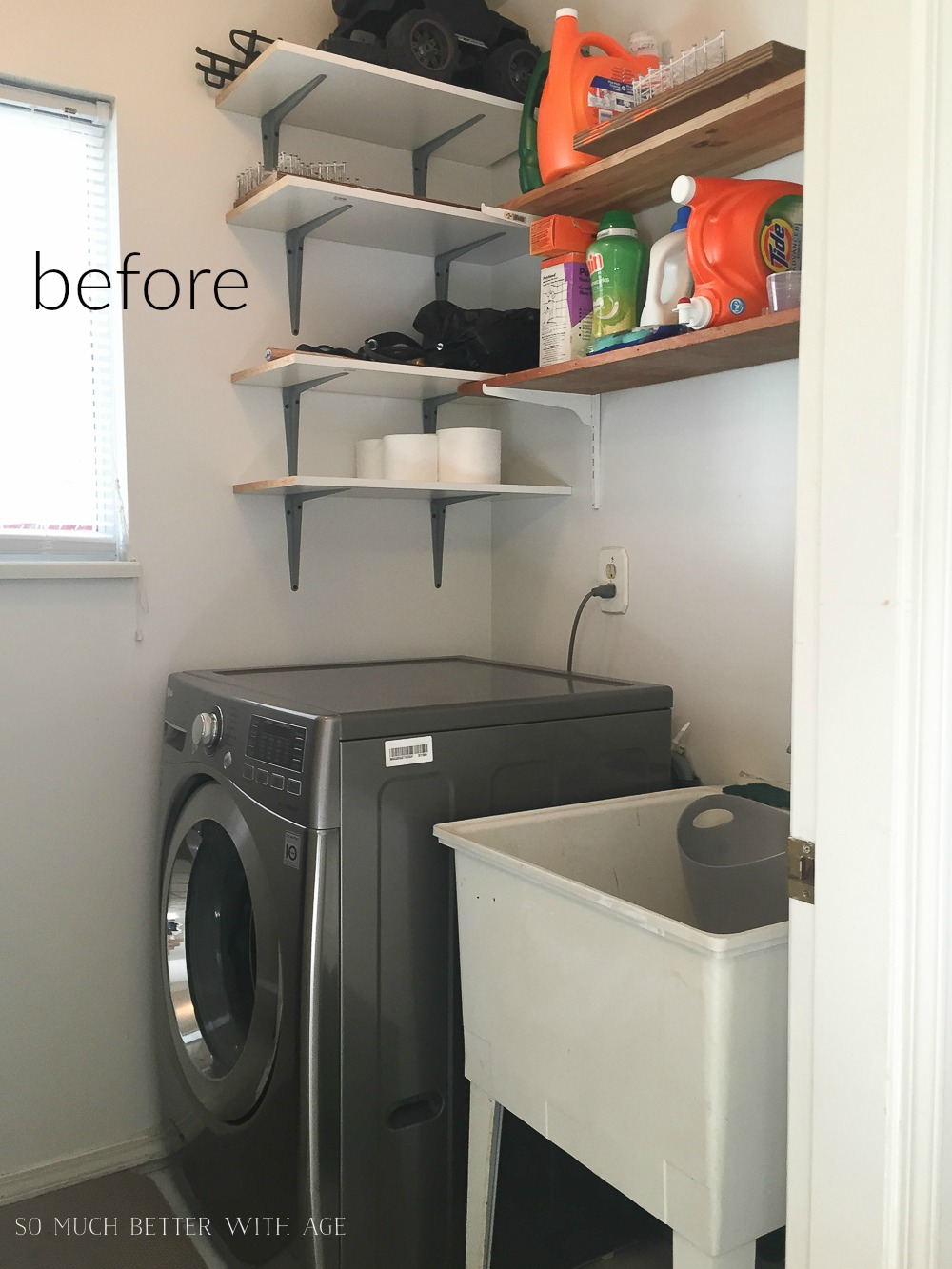 Laundry room/mud room before - So Much Better With Age