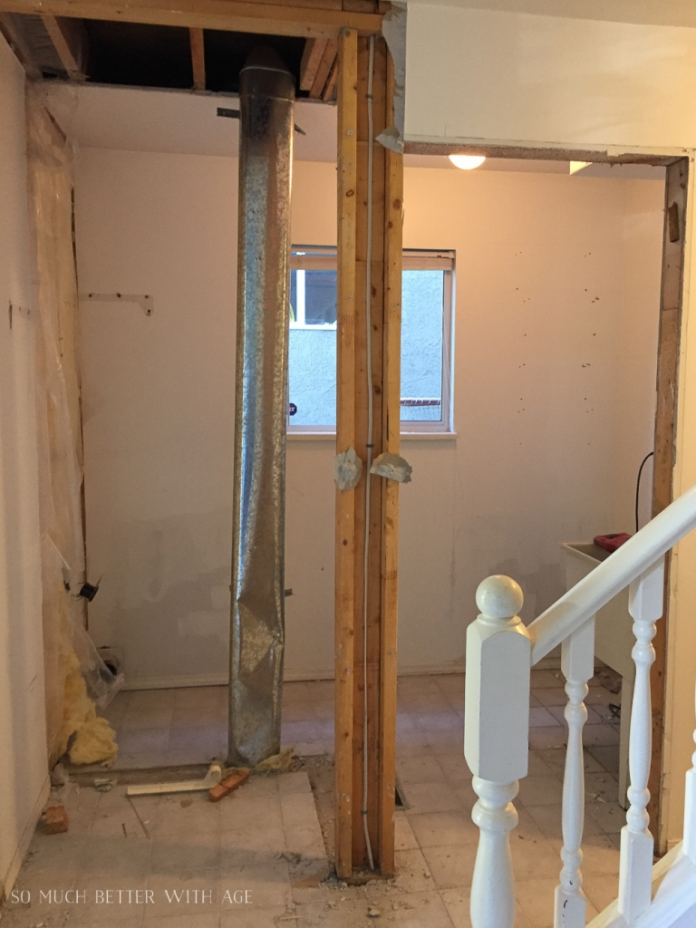 Removing a hall closet to make bigger laundry room.