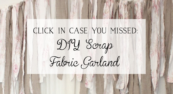 DIY Scrap Fabric Garland / So Much Better With Age