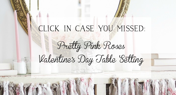 Pretty Pink Roses Valentine's Day Table Setting poster.