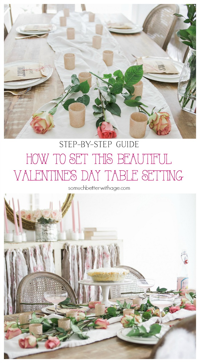 How to Set This Beautiful Valentine's Day Table Setting