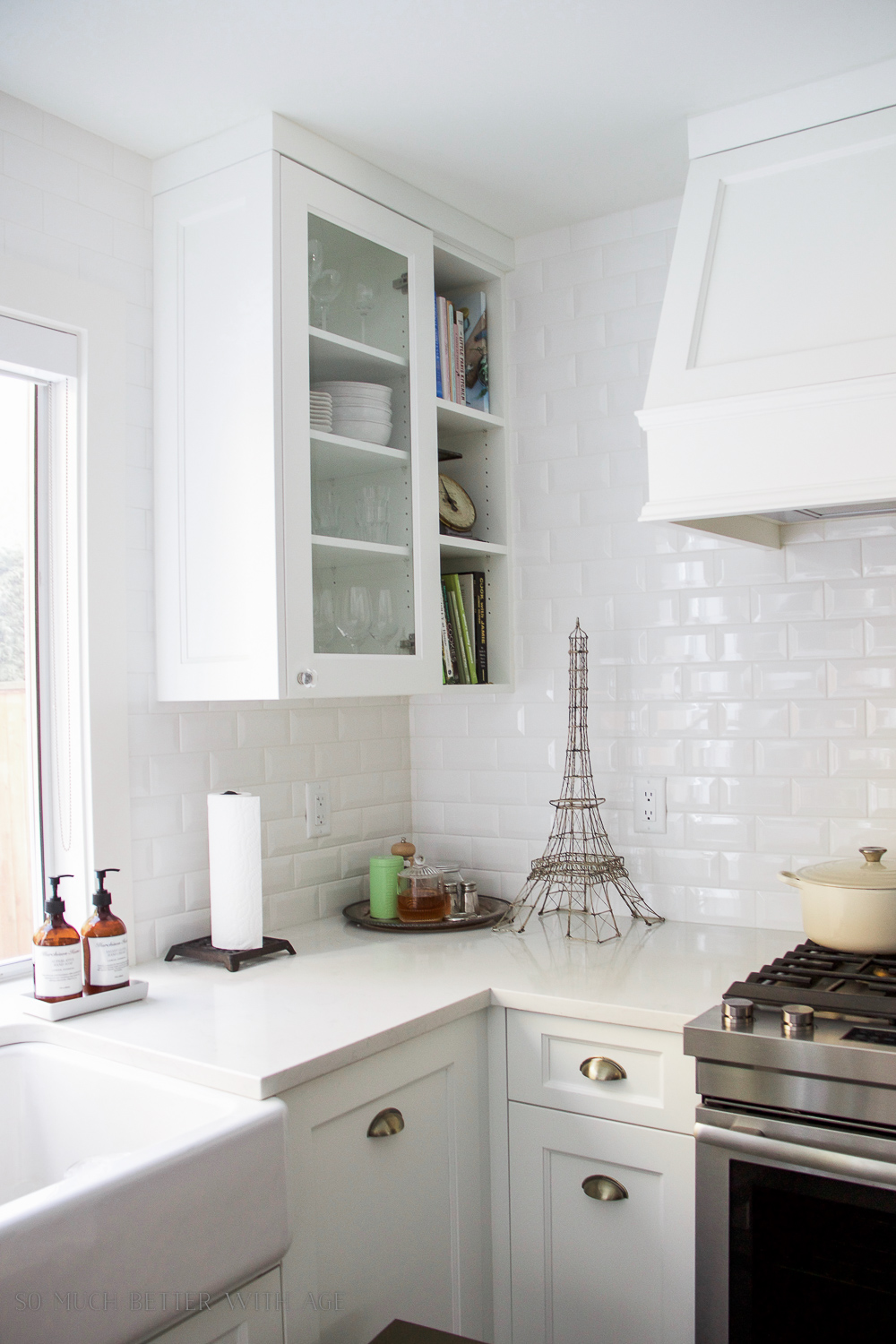 Kitchen renovation, subway tile, farmhouse sink/ My Big Beautiful Kitchen Renovation - Before and After Photos