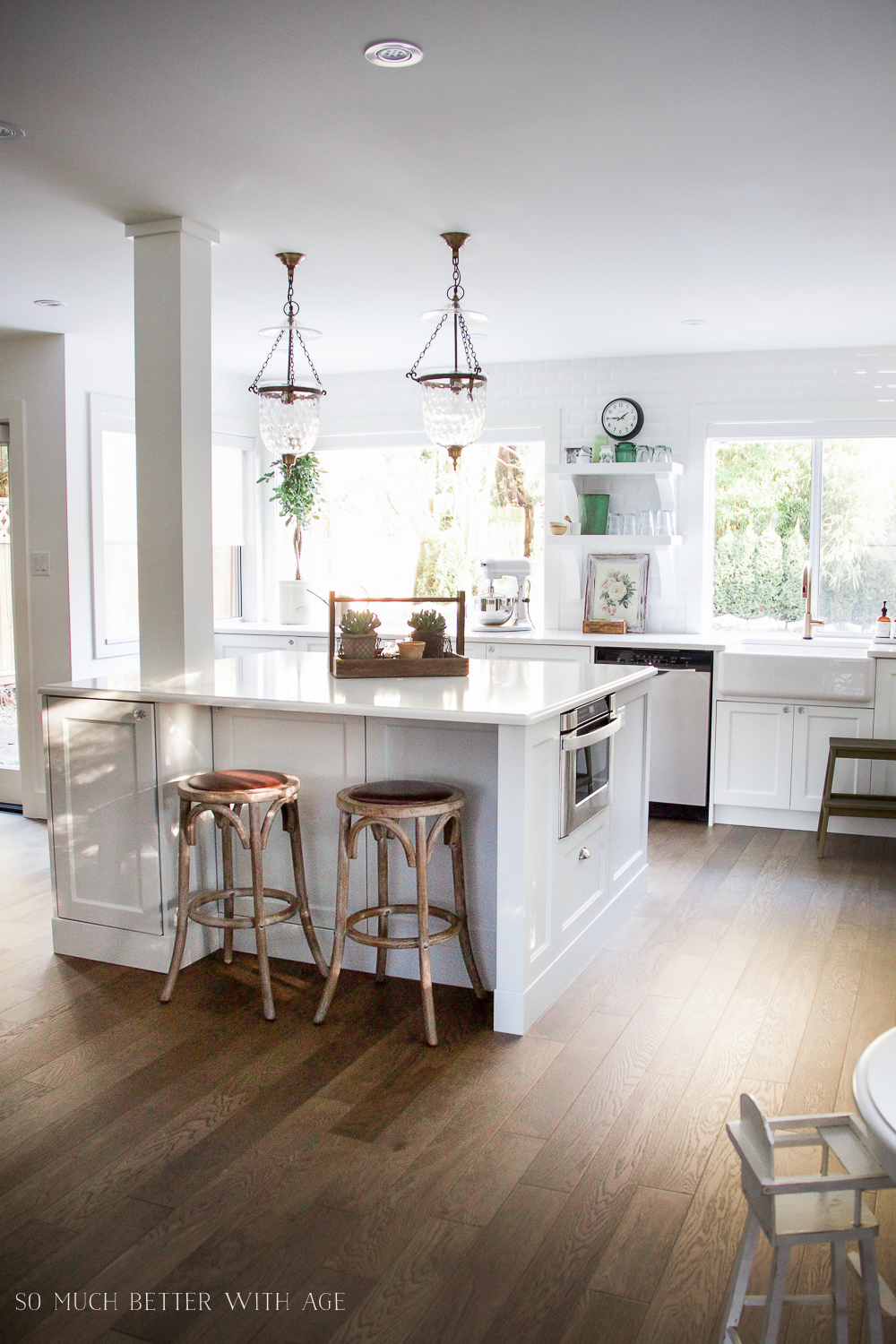 Large white kitchen renovation/ My Big Beautiful Kitchen Renovation - Before and After Photos