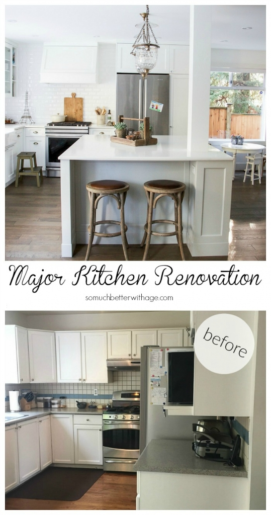 My Big, Beautiful Kitchen Renovation - Before and After Photos | So Removal Desk And Kitchen Remodel Ideas on kitchen with corner desk area, kitchen layout ideas google, kitchen island cabinets, kitchen counter desk,
