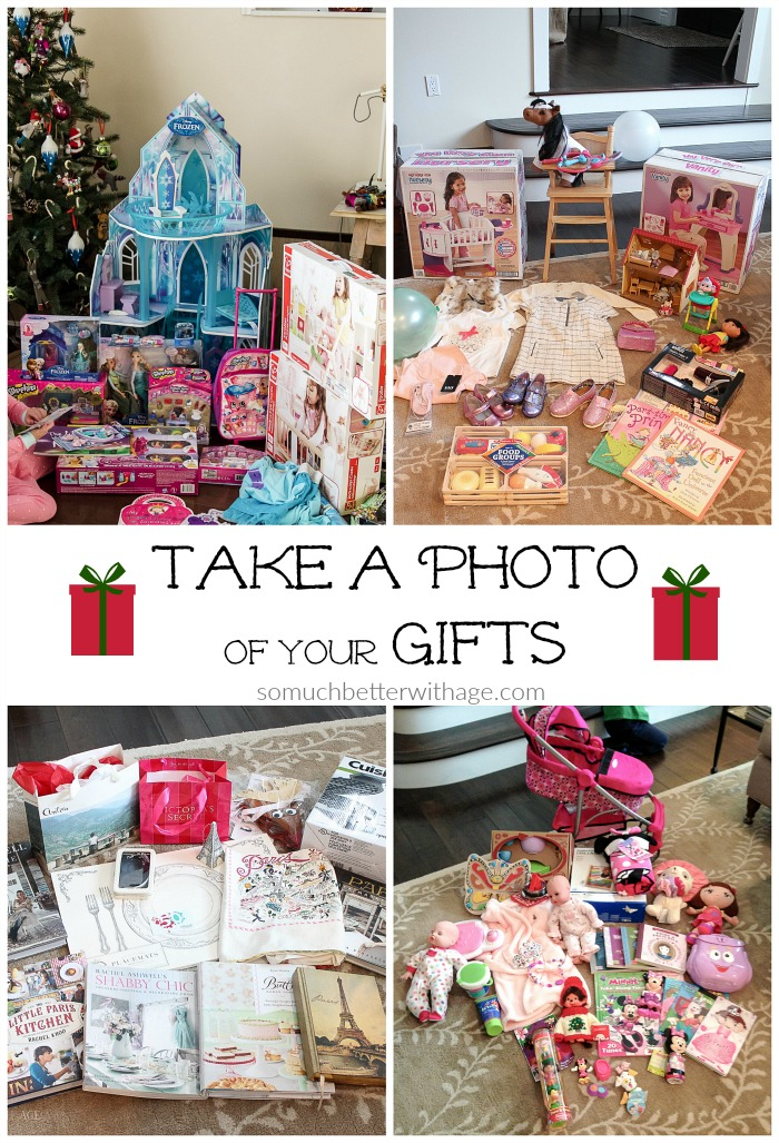 Take a Photo of your Gifts - So Much Better With Age