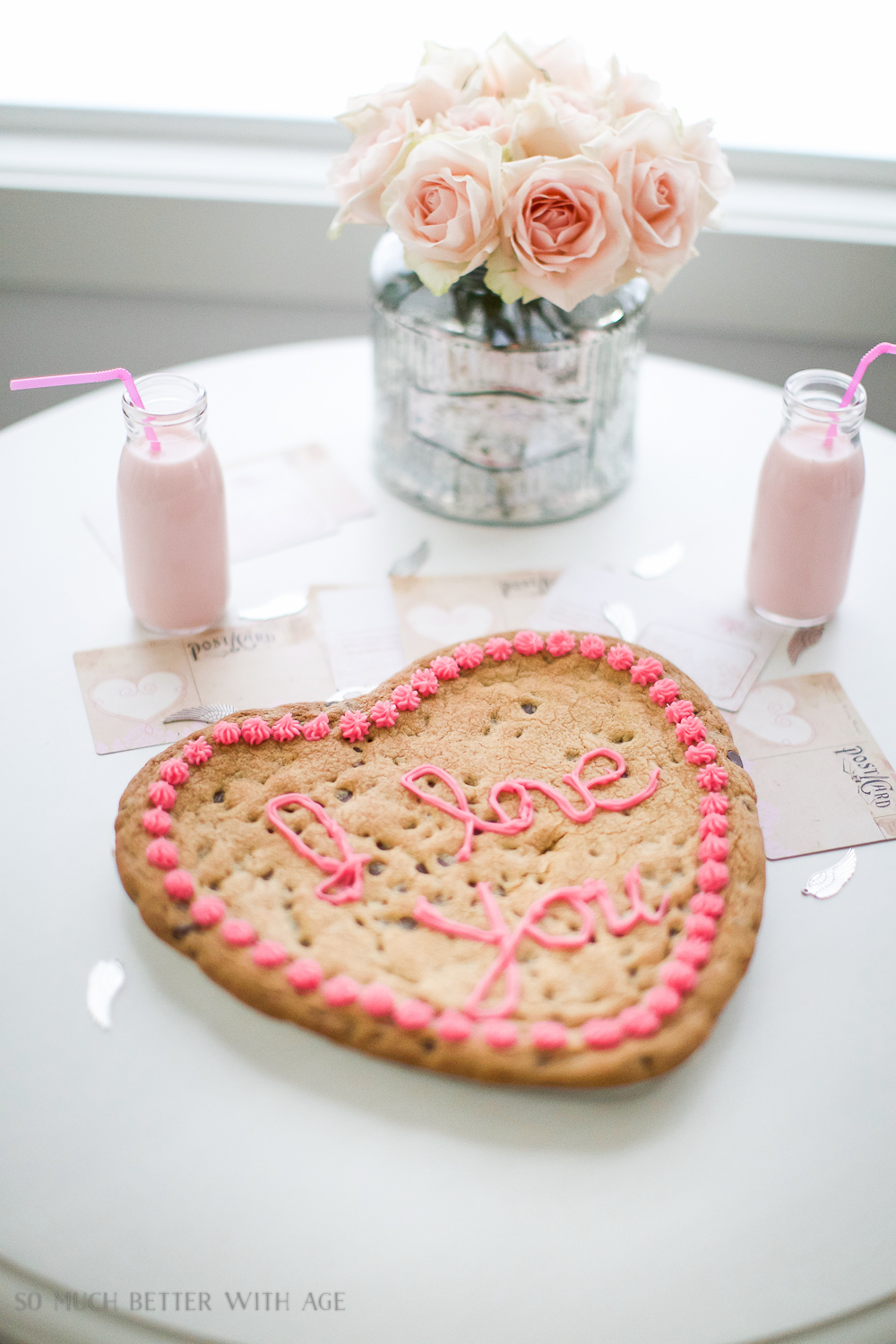 Valentine's Day big heart cookie