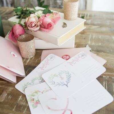 Valentine's Day Free Postcard Printable with Vellum Envelope