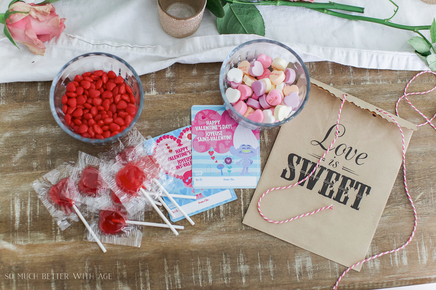 Valentine's Day Kraft Treat Bags / treat bag with candy - So Much Better With Age