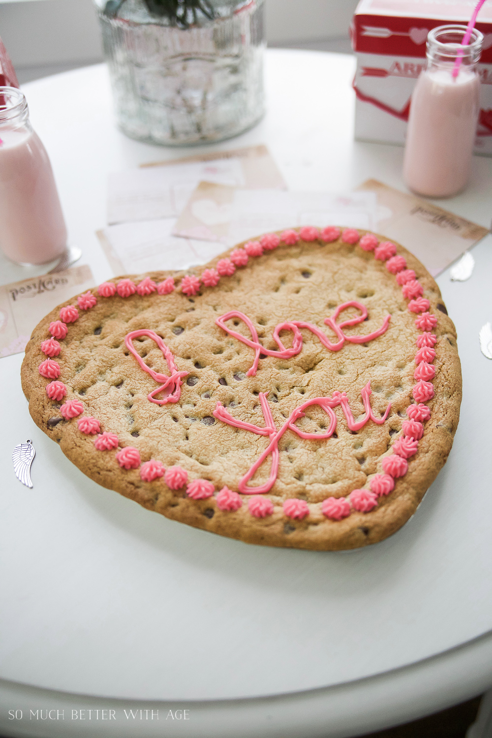 Valentine's Day Kids' Table / big heart cookie - So Much Better With Age